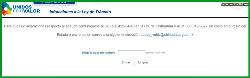 Cómo consultar las multas vehiculares en Chihuahua